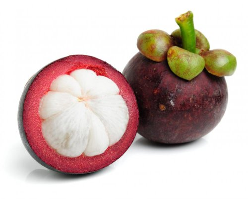 Mangosteen This Ultra-rare fruit Purple Mangosteen or Garcinia mangostana, is native to Asia and is considered among many fruit connoisseurs as the Queen of Fruit and many collectors consider it as the best tasting fruit.  