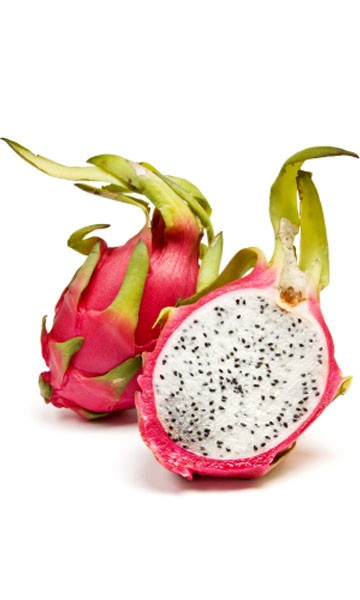 how to cut dragon fruit red inside